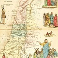 Biblical Map Palestine Print by PG REPRODUCTIONS