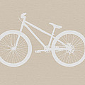 Bicycle Brown Poster Poster by Naxart Studio