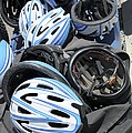 Bicycle Helmets Poster by Photostock-israel