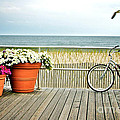 Bicycle on the Ocean City New Jersey Boardwalk. Poster by Melissa Ross