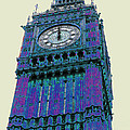 BIG blue BEN Print by Beth Saffer