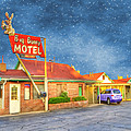 Big Bunny Motel Poster by Juli Scalzi