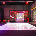 Big Electronic Gaming Mat With A Beamer Print by Corepics