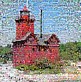 Big Red Photomosaic Poster by Michelle Calkins