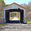 Billie Creek Village Covered Bridge Poster by Robin Pross