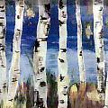 Birches Print by Cathy Weaver