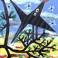 Bird On A Tree After Picasso Print by Alexandra Jordankova