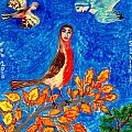 Bird people Robin Print by Sushila Burgess