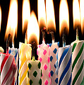 Birthday candles Print by Garry Gay