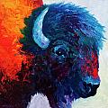 Bison Head Color Study I Poster by Marion Rose