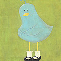 Bitty Bird's New Shoes Nursery Art Poster by Katie Carlsruh