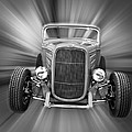 Black and White 32 Ford Poster by Steve McKinzie