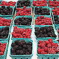 Blackberries and Rasberries - 5D17827 Print by Wingsdomain Art and Photography