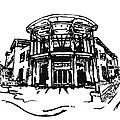 Blair Public Library in Fayetteville AR Print by Amanda  Sanford