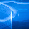 Blue Abstract 2 Poster by Mark Weaver