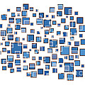 Blue Abstract Rectangles Poster by Frank Tschakert