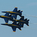 Blue Angels Diamond from Right Poster by Samuel Sheats