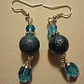Blue Ball Sparkle Earrings Poster by Jenna Green