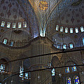 Blue Mosque Interior Print by Cheri Randolph