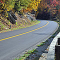 Blue Ridge Parkway Autumn Road Print by Bruce Gourley