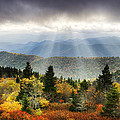 Blue Ridge Parkway Light Rays - Enlightenment Print by Dave Allen