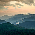 Blue Ridge Parkway NC - Evening Glow Poster by Dave Allen