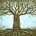 Blue Tree of Life Poster by Renee Womack