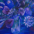 Blues to Brighten your Day Print by Joanne Smoley