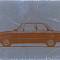 BMW 2002 Orange Print by Irina  March