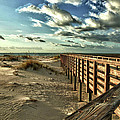 Boardwalk on the Beach Poster by Michael Thomas