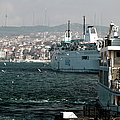 Boats on the Bosphorus Print by John Rizzuto