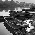 Boats on the Vienne Print by Debra and Dave Vanderlaan