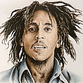 Bob Marley Print by Andrew Read