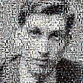 Bobby Fischer Chess Mosaic Poster by Paul Van Scott