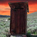 Bodie Outhouse Print by Lydia Warner Miller
