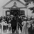 Booker T. Washington Addressing Crowd Poster by Everett