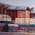 Borderland Mills Print by Candy Mayer