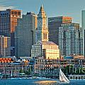 Boston Sunset Sail Poster by Susan Cole Kelly