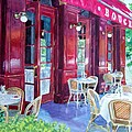 Bouchon Restaurant Outside Dining Poster by Gail Chandler