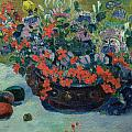 Bouquet of Flowers Print by Paul Gauguin