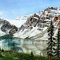 Bow Lake Alberta No.2 Print by Debbie Homewood