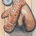 Boxing Gloves Print by Ken Powers