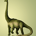 Brachiosaurus Print by Spencer Sutton and Photo Researchers