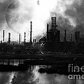 Brave New World - Version 2 - Black and White - 7D10358 Print by Wingsdomain Art and Photography