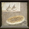 Bread And Figs, Roman Fresco Poster by Sheila Terry
