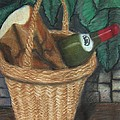 Bread and Wine Poster by M and L Creations