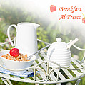 Breakfast Al Fresco Poster by Christopher and Amanda Elwell