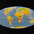 'breathing Earth' Co2 Input/output, Global Map Poster by Nasa