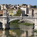 Bridge Ponte Vittorio II. River Tiber.Rome by Bernard Jaubert
