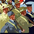 British Empire Soldiers Together Print by War Is Hell Store